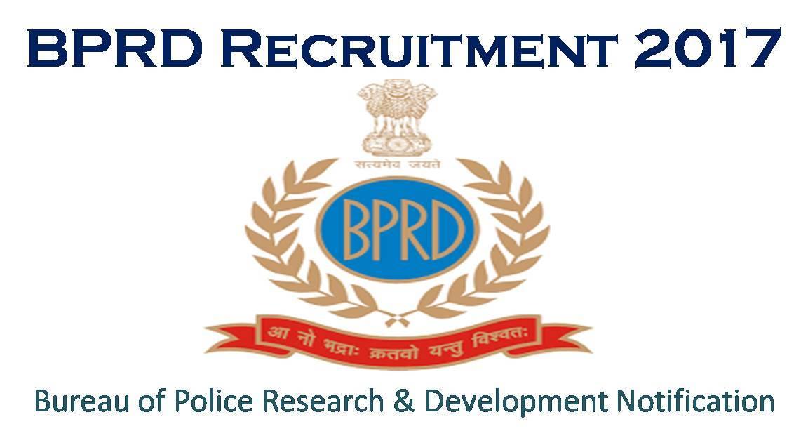 BPRD Recruitment 2017