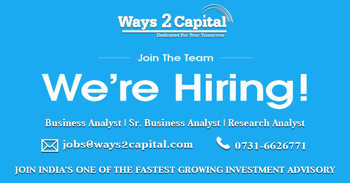 Requirement Of Account Executive In Ways2Capital